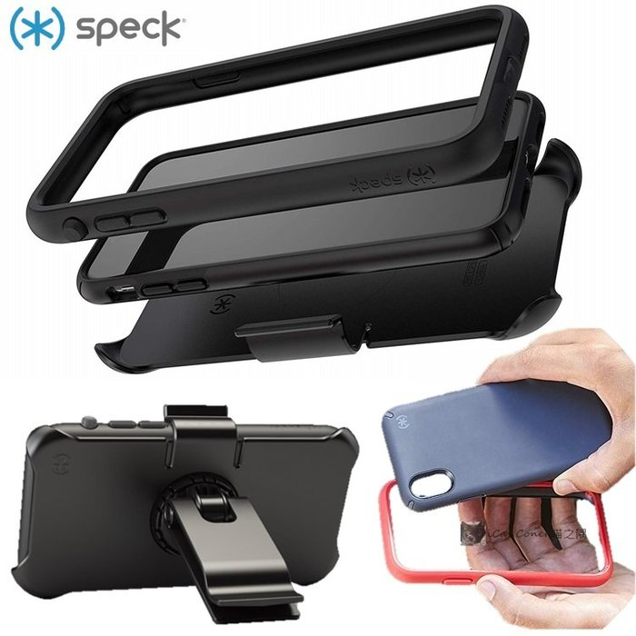 Speck iPhone Xs/X Max 2用4層防護保護套組 Presidio ULTRA 背蓋+保護框 喵之隅