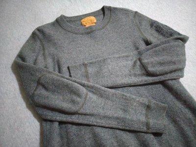 Ralph Lauren Mfg Polo Jeans Company 低調繡臂章100%純羊毛衣(M)