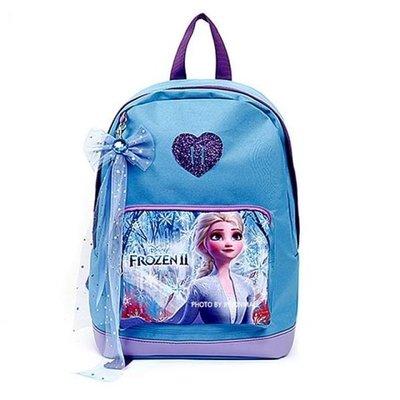 ♀高麗妹♀韓國 Disney FROZEN II 冰雪奇緣2 兒童雙肩護背.透氣書包/背包(D款-藍)預購