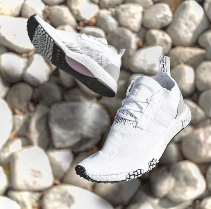 【Cheers】 Adidas NMD Racer PK 全白 白 編織 編織 限量 男女鞋 歐洲限定B37639
