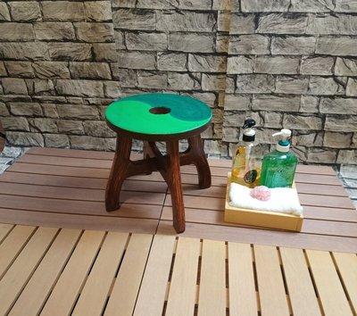 [時代木防水家居] 彩繪浴室椅/ 戶外庭園椅 /兒童淋浴椅