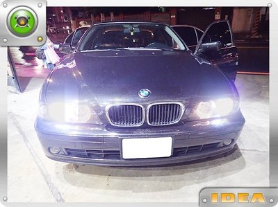 泰山美研社 E3463 全新 實車 BMW E39 專用光圈 魚眼 黑框 大燈