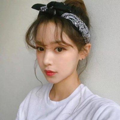 頭巾發帶女韓國百搭森女系方巾