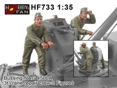 AFVCLUB 戰鷹 1/35 德軍BUSSING-NAG 4500A吊車兵員-2人組 HF733