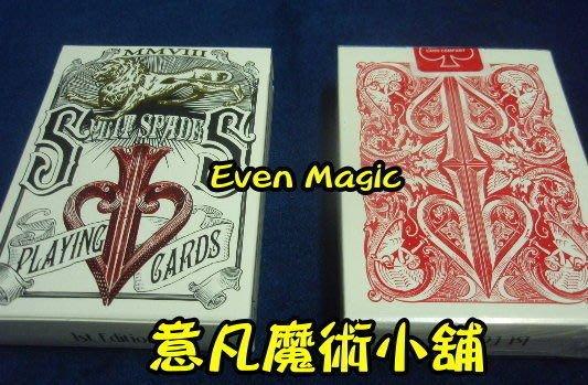 【意凡魔術小舖】 美國原廠牌組 Split Spade : Lions 大衛布萊恩 獅子牌 ~ (紅色)