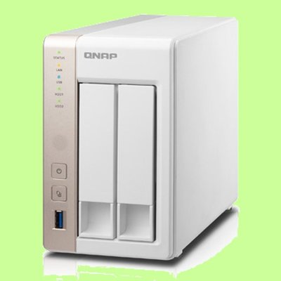 5Cgo【權宇】QNAP TS-251-1G  網路儲存設備 可加 UX-800P擴充至10碟 50TB 含稅會員扣5%