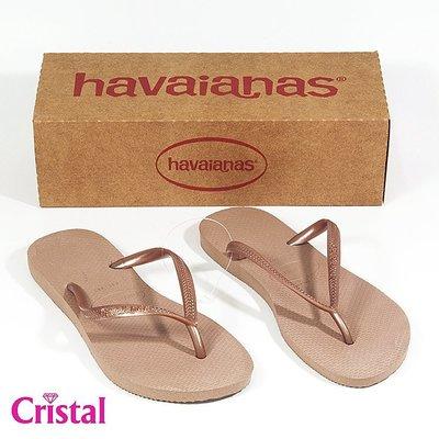 【HAVAIANAS】哈瓦仕百分%巴西原裝進口正品人字拖夾腳拖SLIM細帶經典款系列『夢工場Cristal』