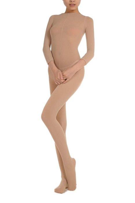 雙子夜【D32】【天鵝絨加厚開襠連身襪】男女適穿※舞蹈打底※開襠設計~愛愛不用脫