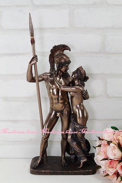 點點蘑菇屋 歐洲精品戰神瑪爾斯與維納斯仿銅擺飾 Mars Venus 雕塑 希臘神話雕像 免運費 現貨