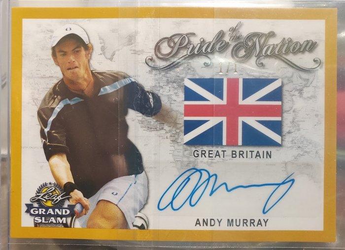 (記得小舖)Andy Murray 英國希望 四天王 2018 Leaf Grand Slam 親筆簽名卡 1/1 現貨