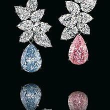 訂做彩鑽耳夾豪華富貴客製流行彩色鑽石4克拉純銀包白金耳環不過敏好舒適可改針耳釘 高碳仿真鑽莫桑石  FOREVER鑽寶