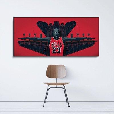 C - R - A - Z - Y - T - O - W - N NBA掛畫 喬丹 JORDAN 籃球明星 運動裝飾畫