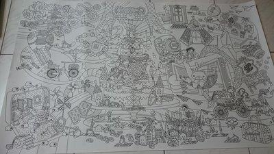 Coloring Poster 塗鴉海報  Zebra Post Office(附漂亮堅固紙筒)