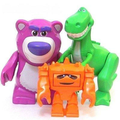 絕版品現貨【LEGO 樂高】100% 全新正品 積木 人偶 公仔: 玩具總動員   抱抱龍+熊暴哥+Chunk 全新未組