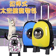@貨比三家不吃虧@ 拉桿式太空艙寵物包 范冰冰同款 寵物外出包 雙肩包 遛貓包 前後可背 透氣 小型犬貓 外出籠 提籃