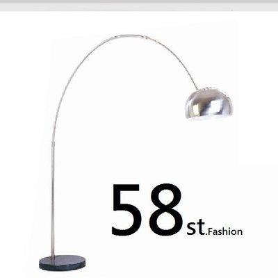 【58街燈飾-台北館】義大利設計師款式「釣魚燈圓大理石落地燈」。複刻版。GU-081 大款