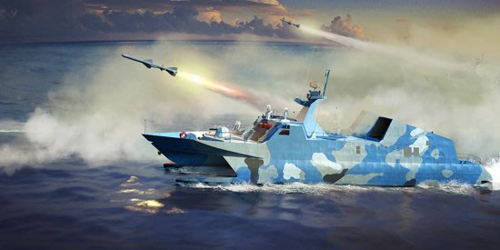 【TRUMPETER 00108】小號手 1/144 中國海軍22型導彈艇