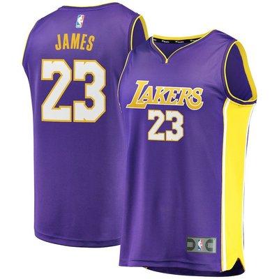 NBA湖人隊LeBron James Fanatics Branded 2017/18 Fast Break 球衣