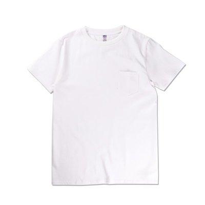 Freaky House-日本Audience美國棉素色口袋T-Shirt白色日本製男女皆可穿