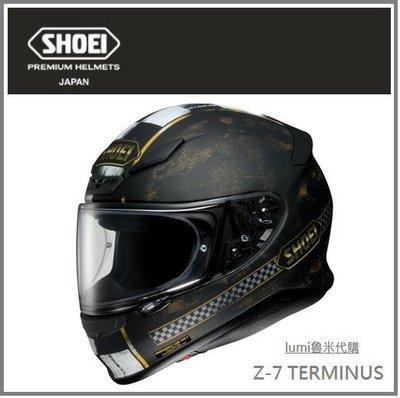 【空運】日本直送 SHOEI Z-7 TERMINUS TC-9  Z7 彩繪 全罩式 安全帽 重機 機車 黑/金