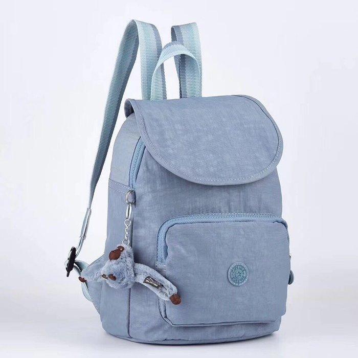 Kipling 猴子包 K10256 粉藍色 掀蓋多用輕量雙肩後背包 防水 限量 限時優惠