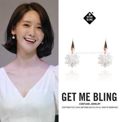 【韓Lin連線代購】韓國 GET ME BLIN - 潤兒同款 白雪花耳環 WHITE SNOW