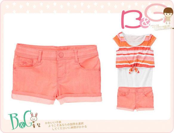 【B& G童裝】正品美國進口GYMBOREE橘色短褲7,8,10號6-7-8-9yrs