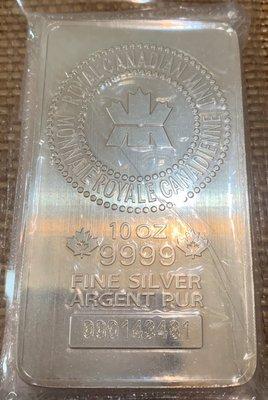 加拿大 10盎司 銀條 銀塊 純度9999