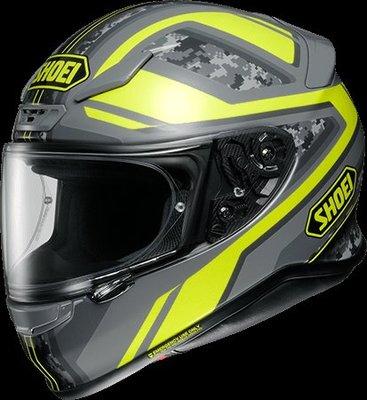 《鼎鴻》 SHOEI全罩式花色安全帽 Z-7 PARAMETER TC-3 黃/灰色
