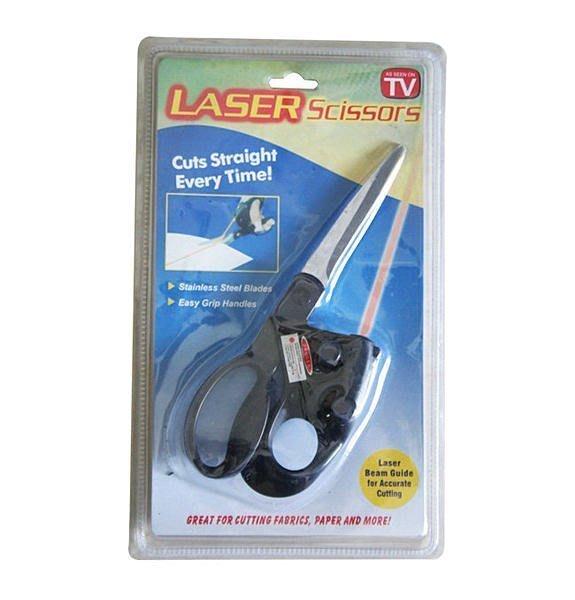 全新 Laser scissors 神奇雷射光剪刀 雷射光輔助定位,家用多功能剪刀 剪直線導航