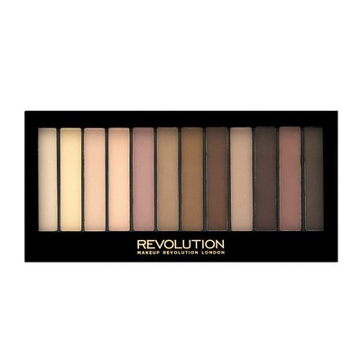 【愛來客】英國Makeup Revolution Essential Mattes 2 眼影盤 啞光無珠光眼影盤