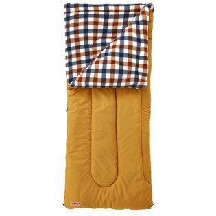 【山野賣客】Coleman CM-26648 0℃棕格紋刷毛睡袋 信封型睡袋 化纖睡袋 纖維睡袋 可全開併接