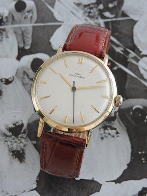 原裝真品 正14K金 585  MERIT 馬瑞特 Merit Watch Co.  經典自動上鍊機械古董錶 男錶