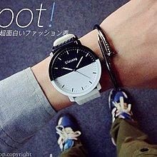 【WA715】設計師推薦!黑白經典拼接 時尚 百搭 手錶 對錶 男錶 女錶 生日 情人節 禮物 交換 潮流 尾牙 贈品