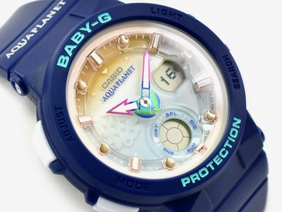 佐敦門市 現貨 100% 全新 Casio Baby-G BGA-250AP-2A Aqua Planet Our Ocean, Our Future 一年保養