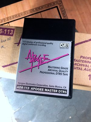 全新APOGEE MASTER DTRS AD8-113高級數位錄音帶 音樂拷貝母帶/113分鐘錄音(家用機器不合用))