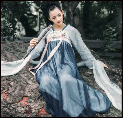 ~~Miss Goddess~~漢服女改良齊胸襦裙日常漢服秋中國風古裝仙女裙飄逸清新淡雅