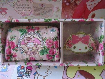 雙子星店 Sanrio My Melody x Lauda Ashley 化妝袋連頭型鏡盒禮盒裝 日本