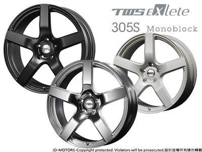 JD-MOTORS 日本原裝TWS EXlete 305S Monoblock 18/19/20吋鍛造鋁圈