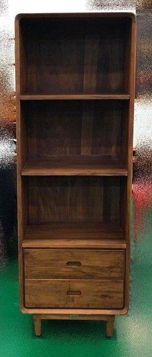 【宏品二手家具館】中古HM803AJ*柚木丹麥和風三層書櫃* 書架 書櫥 高底櫃 展示櫃 收納櫃 中古傢俱拍賣電視櫃