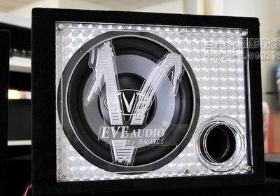 嘉義三益 最新 EVE-1220 12吋600w 重低音+擴大機 +LED壓克力音箱 裝到好7900元.