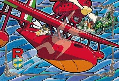 日本拼圖.吉卜力 宮崎駿 紅豬 飛機 300片透明塑膠拼圖,300-AC034
