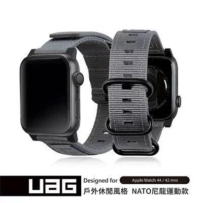 超 促銷 特價 UAG Apple Watch 42/44mm Nato錶帶 尼龍/不鏽鋼扣環