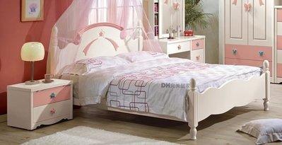 【DH】貨號G115-1《貝妮芬》5尺雙人床架˙附四分板˙甜美造型˙可愛夢幻風˙主要地區免運