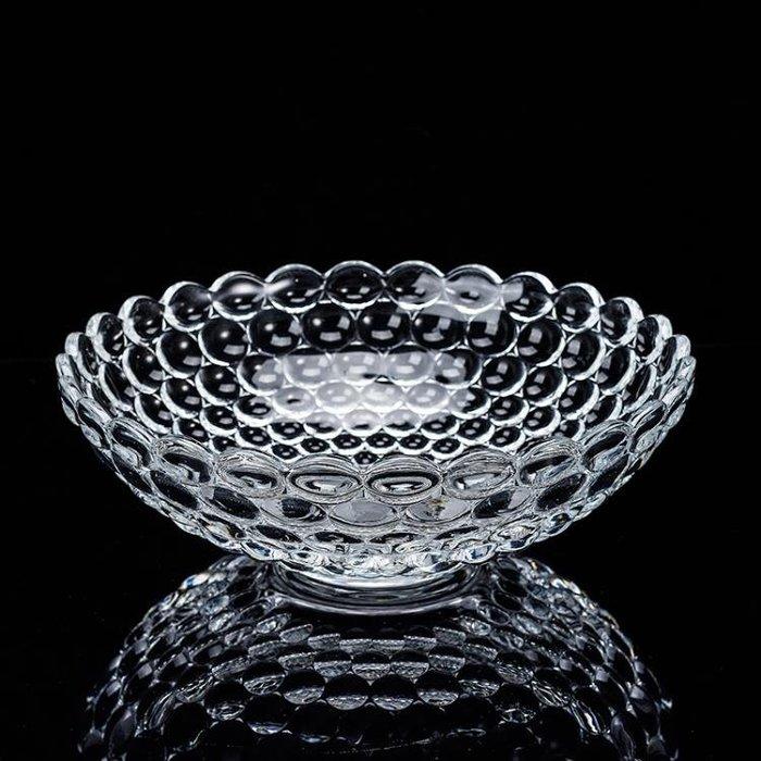水果盤 水果盤水晶玻璃果盤客廳創意歐式透明現代家用茶幾大號水果籃果盆【樂購大賣家】