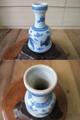 【藏拙】青花棒捶瓶-老件