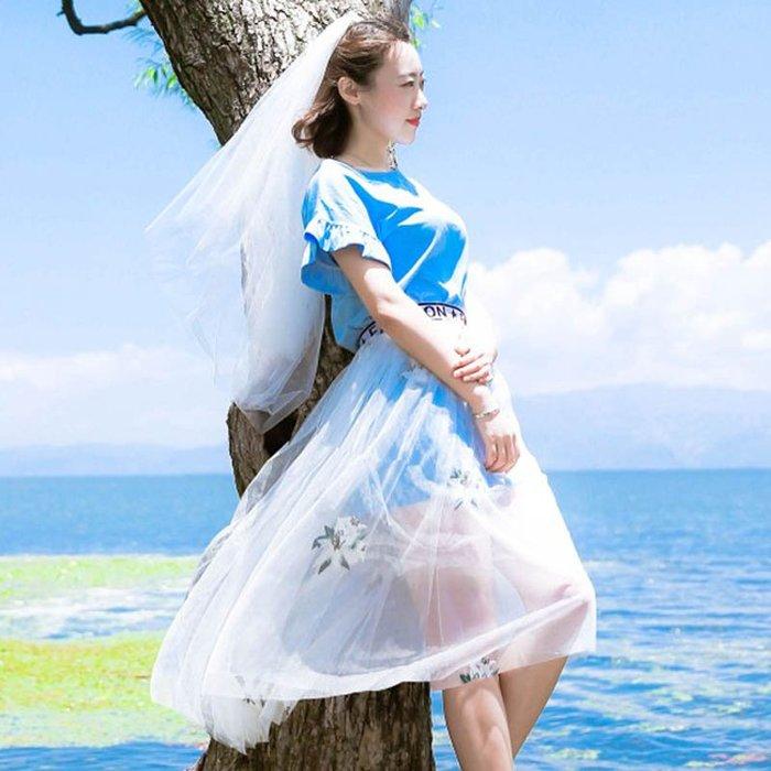 爆款--新娘頭紗韓式新款簡約裸絲帶發梳雙層短款頭紗結婚紗照攝影#新娘用品#頭飾#復古#手工藝品