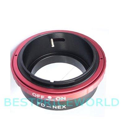 Canon FD鏡頭轉SONY索尼E-Mount E卡口NEX機身可調光圈轉接環FD-NEX 50/1.4 85/1.2
