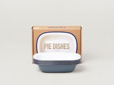 Falcon 琺瑯 派盤 四件組 Pie Dishes 古典灰 英國獵鷹琺瑯 delicateworld