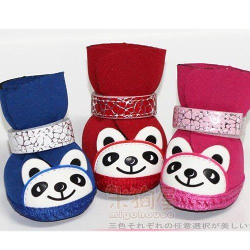 【米狗屋】熊貓輕巧寵物鞋子/狗鞋˙適合初學者˙特價˙粉色/藍色/紅色